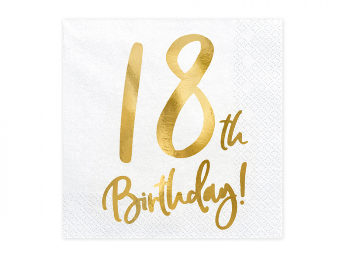 Set 20 Servetele aniversare 18th Birthday [0]