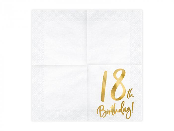 Set 20 Servetele aniversare 18th Birthday [1]
