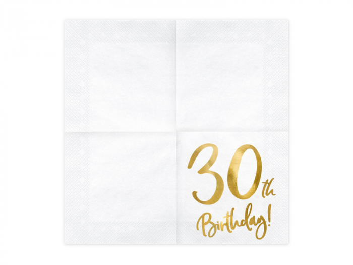 Set 20 Servetele aniversare 30th Birthday 1