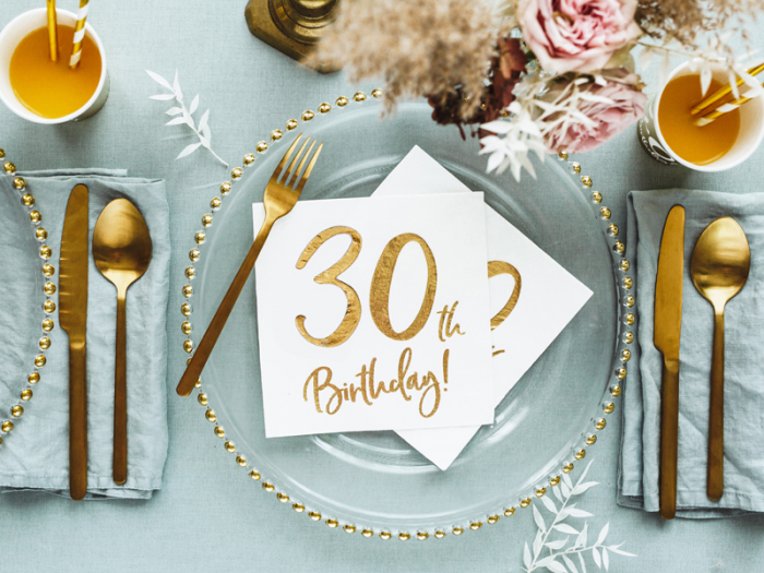 Set 20 Servetele aniversare 30th Birthday 4
