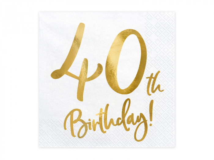 Set 20 Servetele aniversare 40th Birthday [0]
