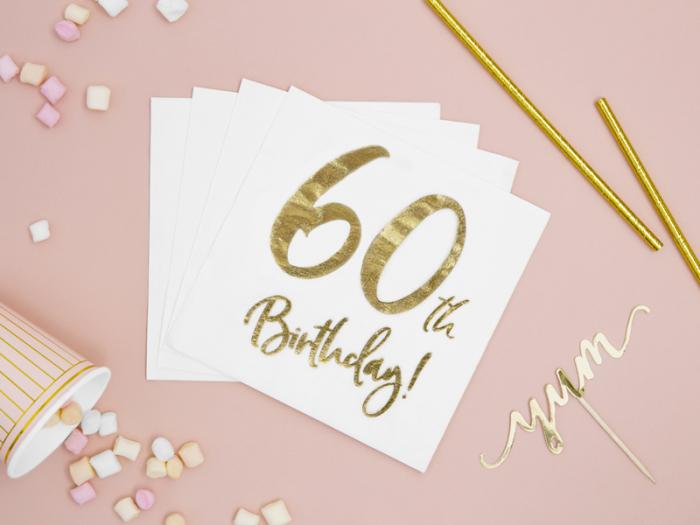 Set 20 Servetele aniversare 60th Birthday [2]