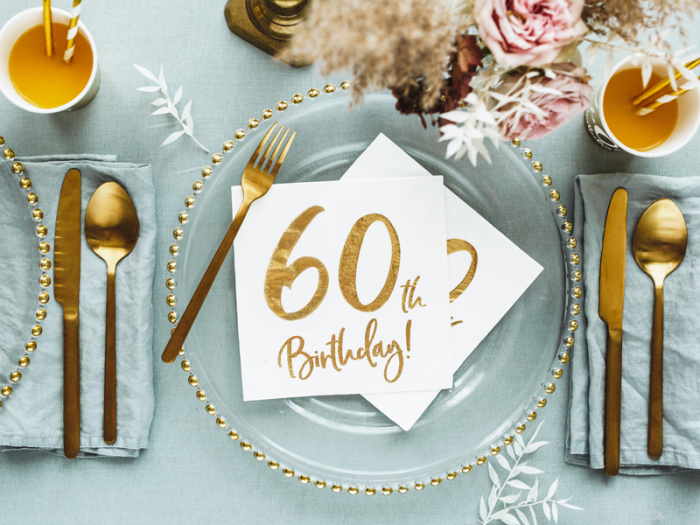 Set 20 Servetele aniversare 60th Birthday [4]