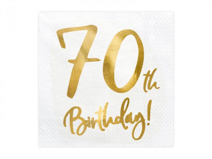 Set 20 Servetele aniversare 70th Birthday 0