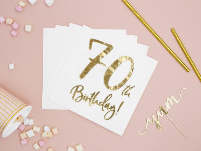 Set 20 Servetele aniversare 70th Birthday 2