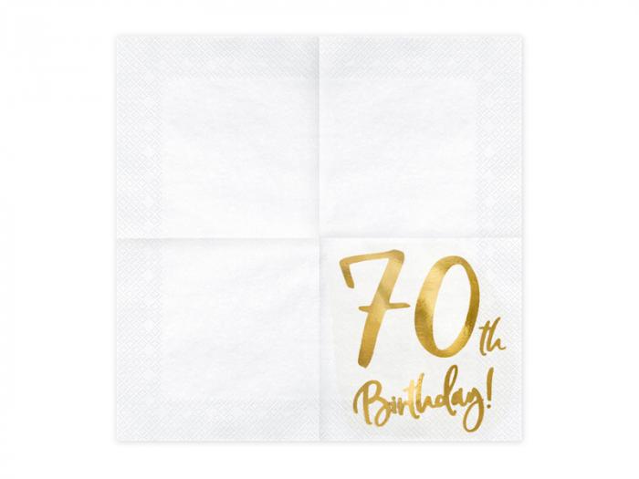 Set 20 Servetele aniversare 70th Birthday 1