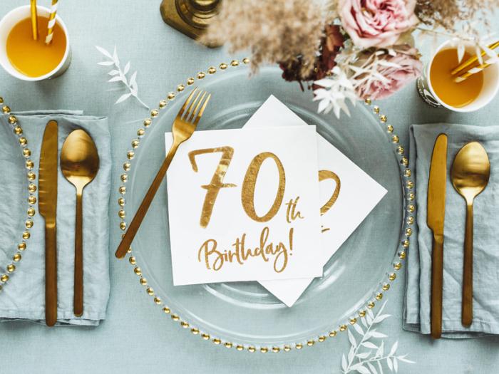 Set 20 Servetele aniversare 70th Birthday 4