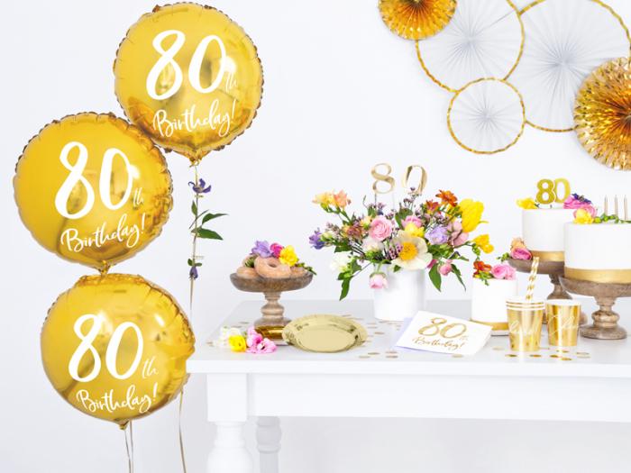 Set 20 Servetele aniversare 80th Birthday 3