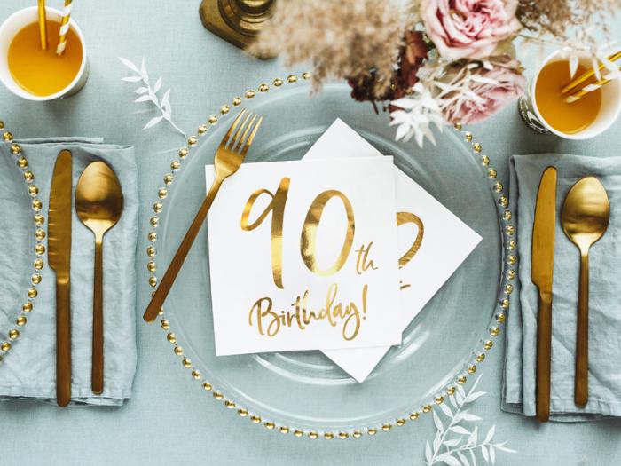Set 20 Servetele aniversare 90th Birthday [4]