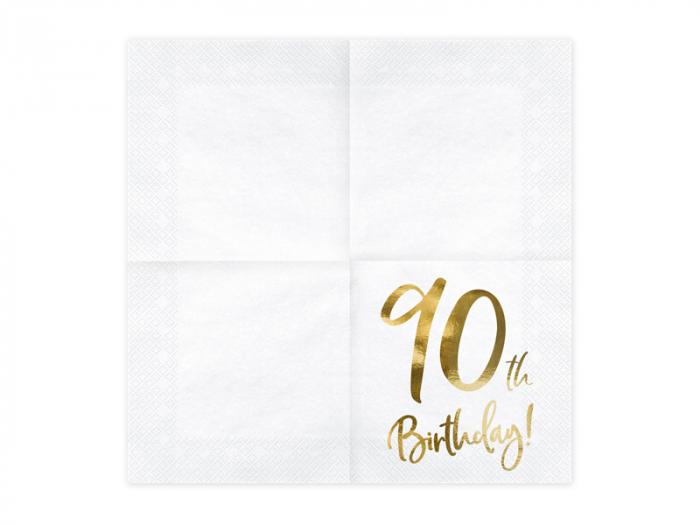 Set 20 Servetele aniversare 90th Birthday [1]