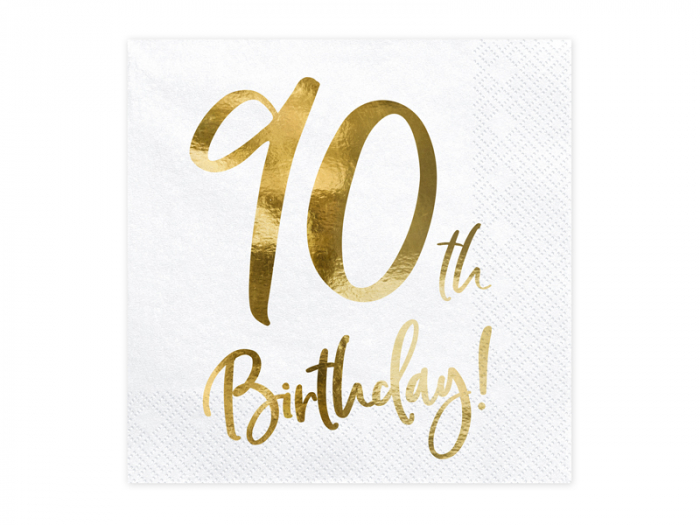Set 20 Servetele aniversare 90th Birthday [0]