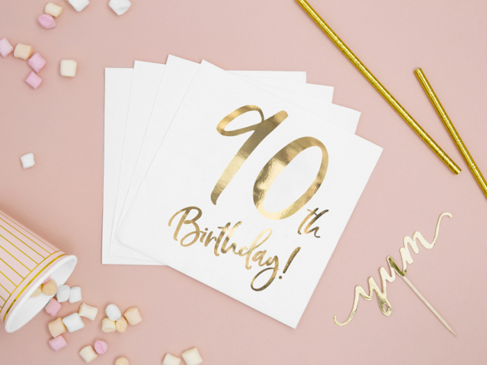 Set 20 Servetele aniversare 90th Birthday [2]