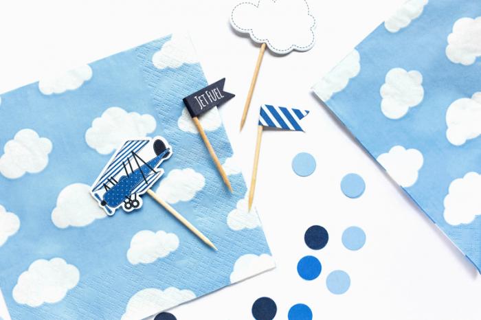 Set 20 Servetele Bleu Norisori 2