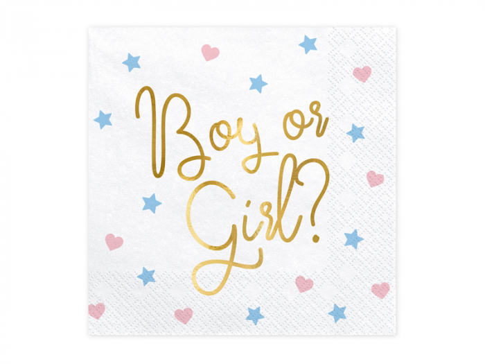 Set 20 Servetele Boy or Girl Gender Reveal [0]