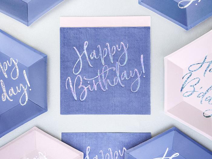 Set 20 Servetele Happy Birthday 2