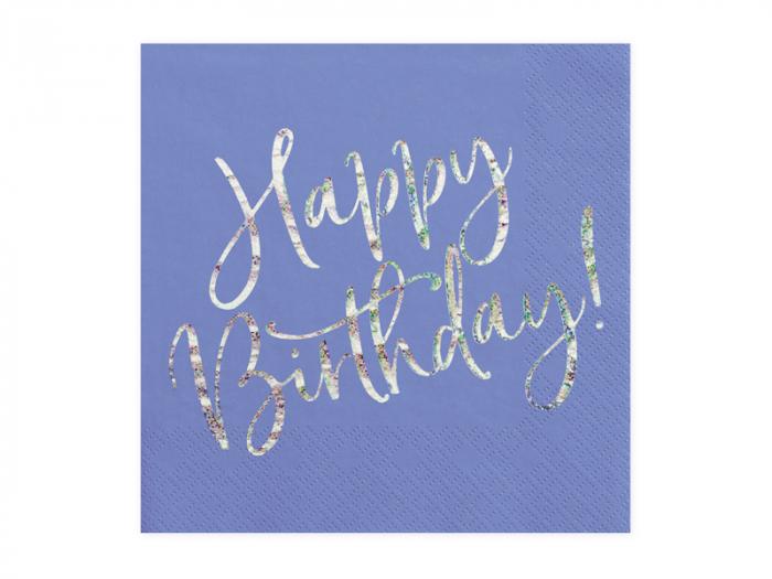 Set 20 Servetele Happy Birthday 0