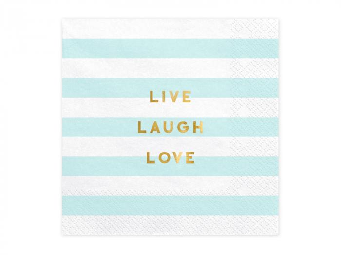 Set 20 Servetele Live Laugh Love 0