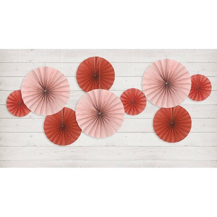 Set 3 Rozete decorative, rosu [1]
