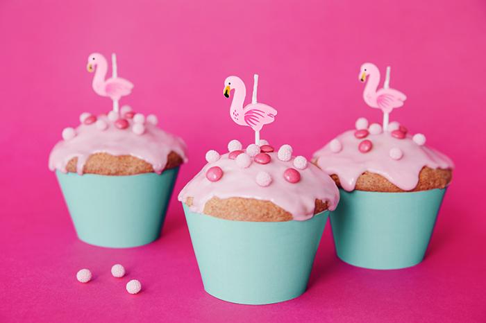 Set 5 Lumanari Flamingo, 3 cm 1