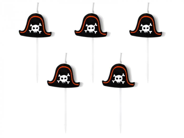 Set 5 Lumanari Palarie Pirat 0