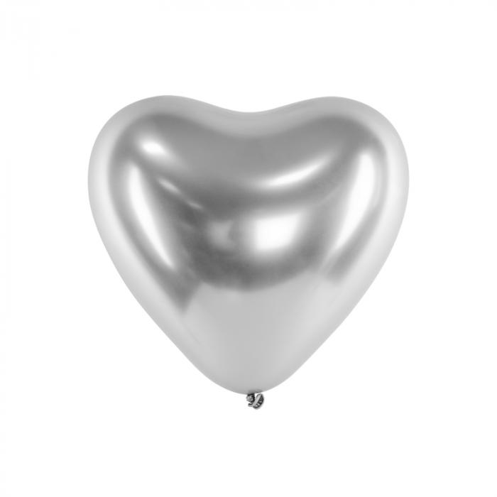 Set 50 Baloane Inimi Argintii Metalizate - 30 cm [0]