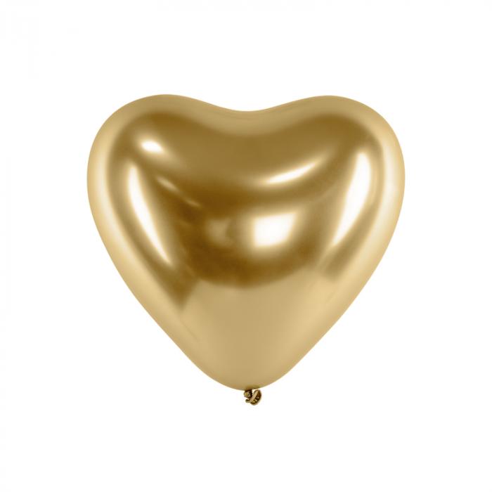 Set 50 Baloane Inimi Aurii Metalizate - 30 cm 0