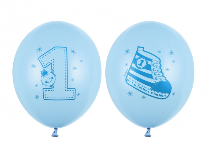Set 6 Baloane Albastre 1 An - 30 cm [0]
