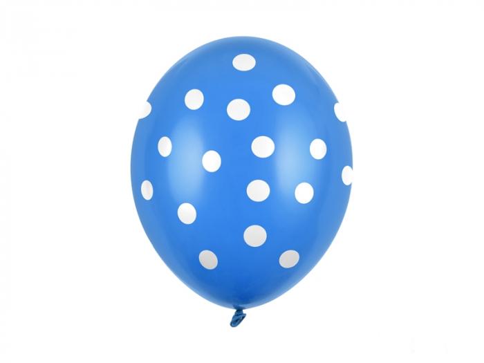Set 6 Baloane Albastre cu buline - 30 cm [0]