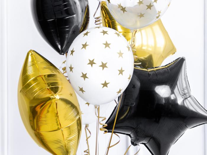 Set 6 Baloane albe cu stele - 30 cm [1]