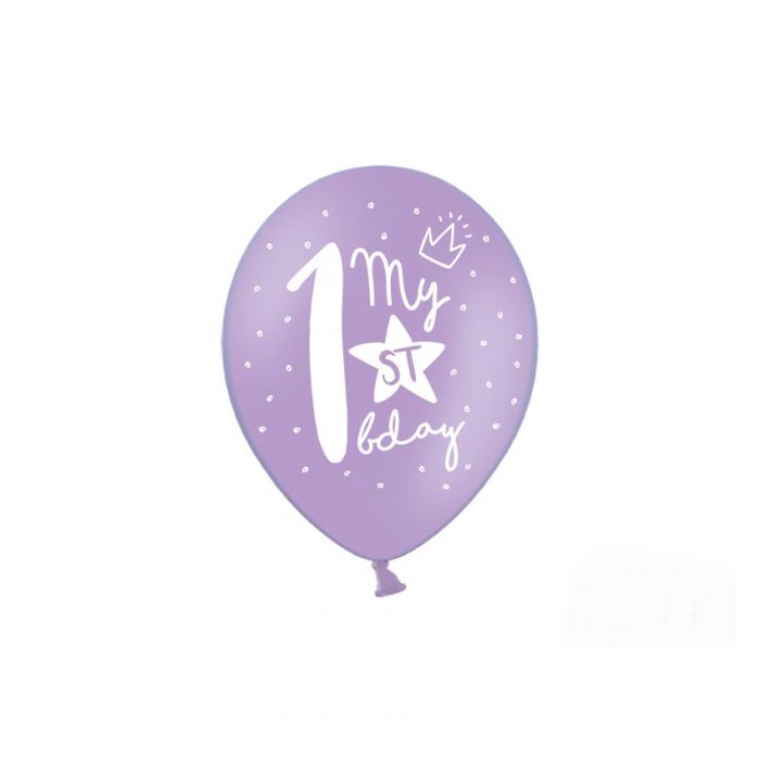 Set 6 Baloane Aniversare 1 an - 30 cm 1
