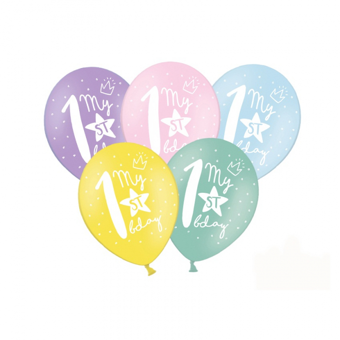Set 6 Baloane Aniversare 1 an - 30 cm 0