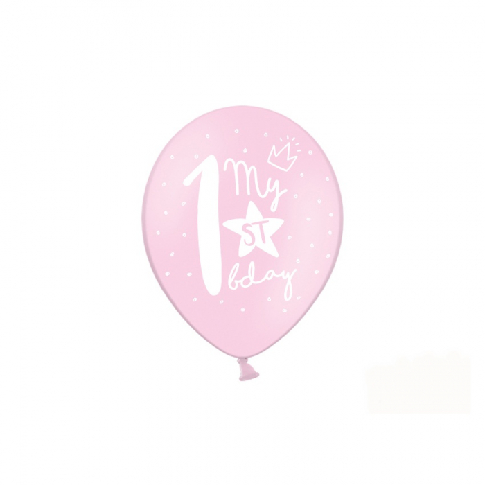 Set 6 Baloane Aniversare 1 an - 30 cm 3