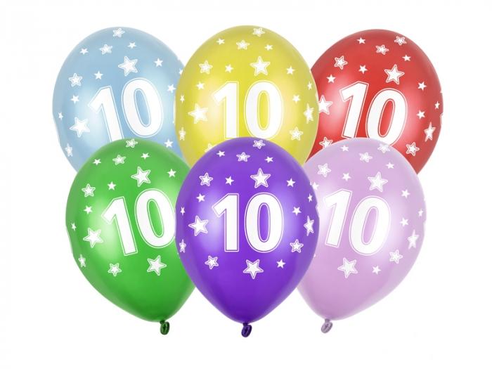 Set 6 Baloane Aniversare, 10 Ani - 30 cm [0]