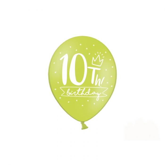 Set 6 Baloane Aniversare 10 ani - 30 cm 2