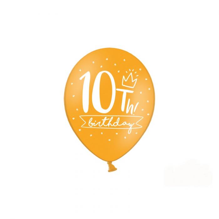 Set 6 Baloane Aniversare 10 ani - 30 cm 5