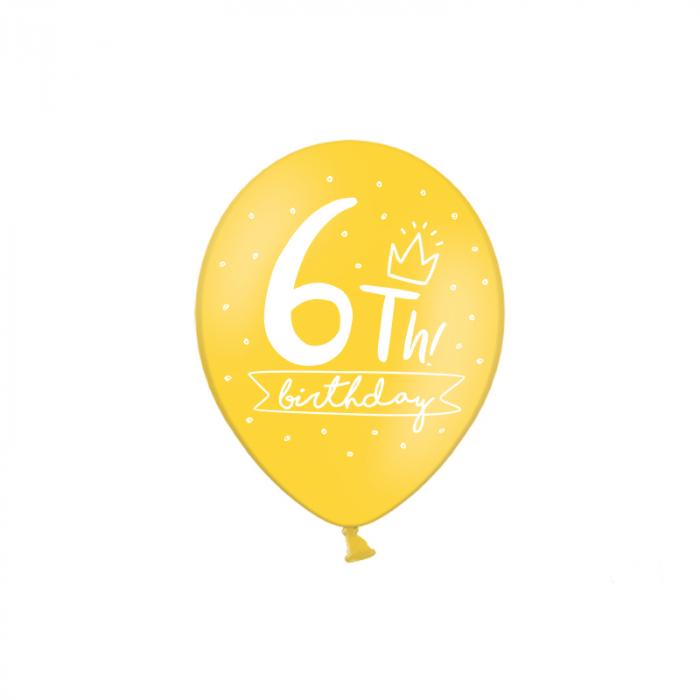 Set 6 Baloane Aniversare 10 ani - 30 cm 11