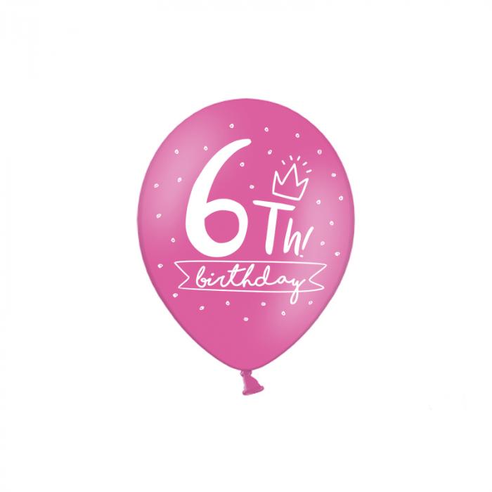 Set 6 Baloane Aniversare 10 ani - 30 cm 10
