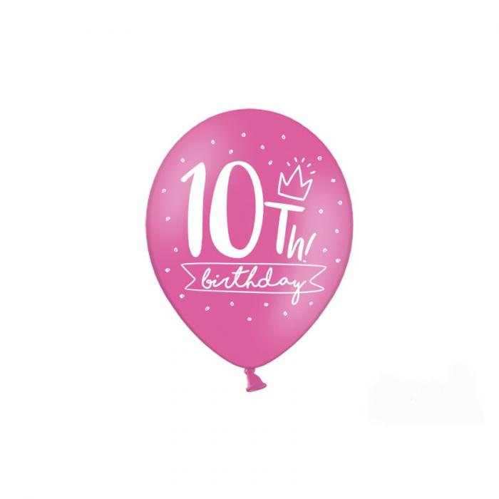 Set 6 Baloane Aniversare 10 ani - 30 cm 4