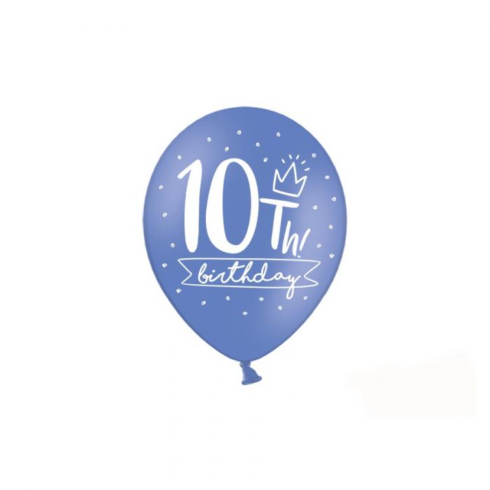 Set 6 Baloane Aniversare 10 ani - 30 cm 1