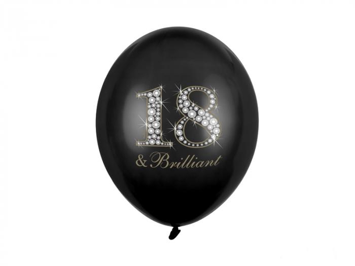 Set 6 Baloane Aniversare 18 Ani - 30 cm [0]