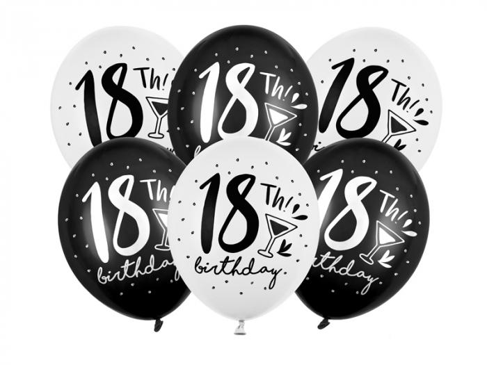 Set 6 Baloane Aniversare, 18 Ani, Mix - 30 cm [0]