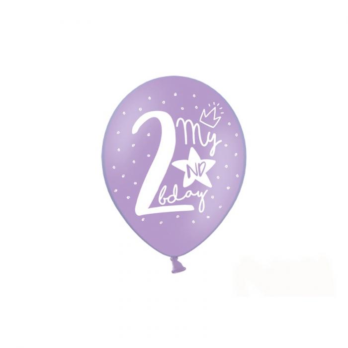 Set 6 Baloane Aniversare 2 ani - 30 cm 5