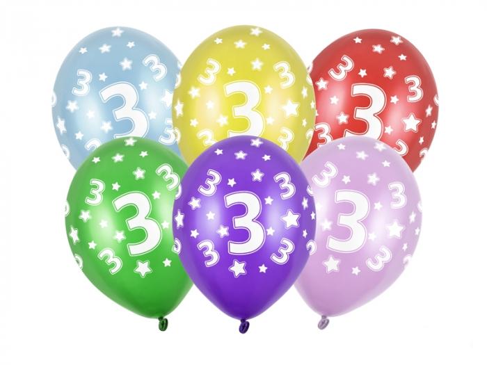 Set 6 Baloane Aniversare, 3 Ani - 30 cm [0]