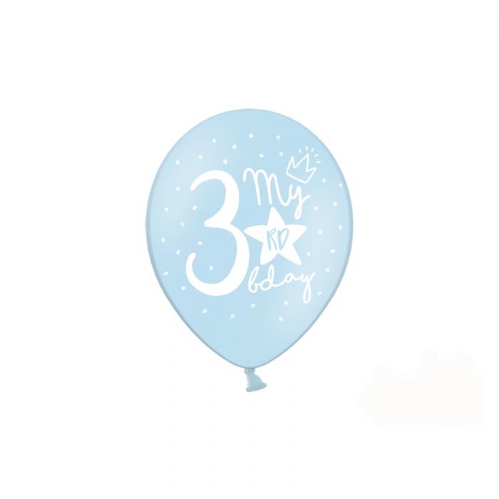 Set 6 Baloane Aniversare 3 ani - 30 cm 1