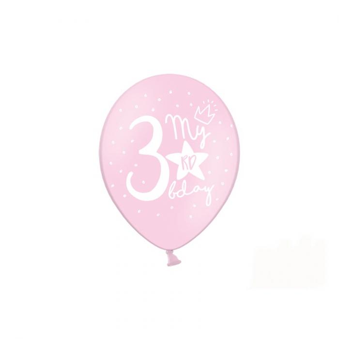 Set 6 Baloane Aniversare 3 ani - 30 cm 2