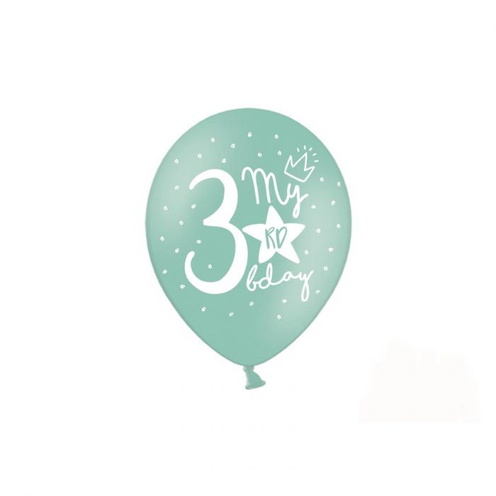 Set 6 Baloane Aniversare 3 ani - 30 cm 5