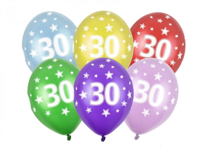 Set 6 Baloane Aniversare, 30 Ani - 30 cm [0]