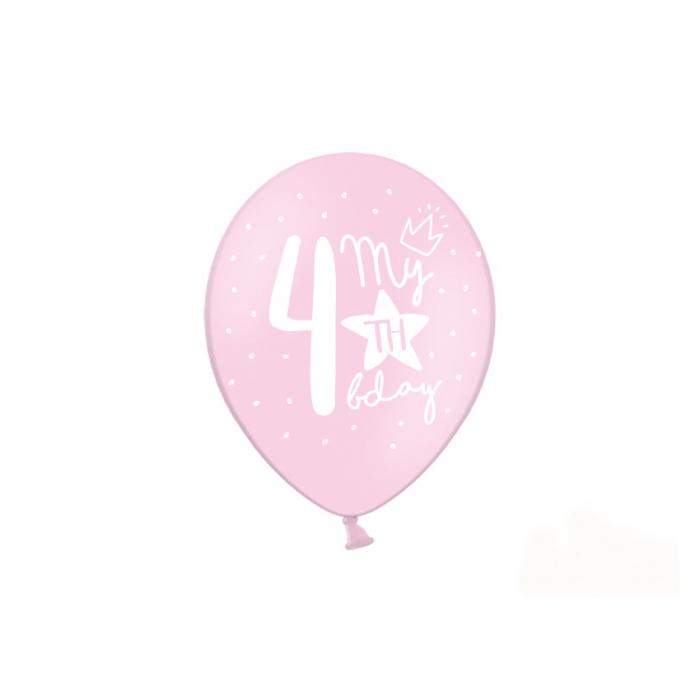 Set 6 Baloane Aniversare 4 ani - 30 cm [3]