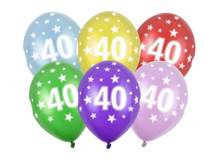 Set 6 Baloane Aniversare, 40 Ani - 30 cm [0]