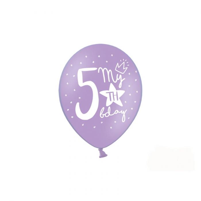 Set 6 Baloane Aniversare 5 ani - 30 cm [4]